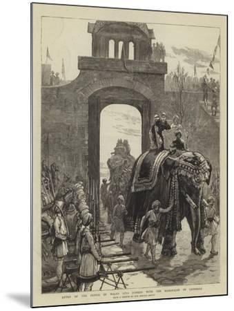 Entry of the Prince of Wales into Jummoo with the Maharajah of Cashmere-Joseph Nash-Mounted Giclee Print