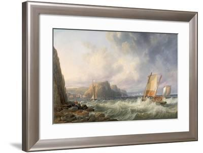 Off the Yorkshire Coast, Staithes, 1861-John Wilson Carmichael-Framed Giclee Print