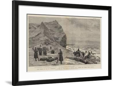 The Wreck of the Ss Roumania, a View of the Beach at Gronho, Spain, Where the Vessel Went Ashore-Joseph Nash-Framed Giclee Print