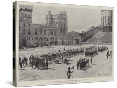 The Naval Brigade of HMS Powerful at Windsor, Three Cheers for the Queen!-Joseph Holland Tringham-Stretched Canvas Print