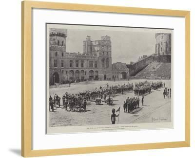 The Naval Brigade of HMS Powerful at Windsor, Three Cheers for the Queen!-Joseph Holland Tringham-Framed Giclee Print