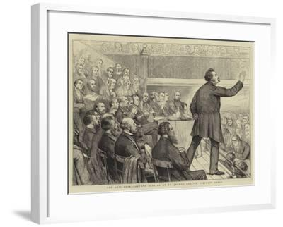 The Anti-Ultramontane Meeting at St James's Hall, a Portrait Group-Joseph Nash-Framed Giclee Print