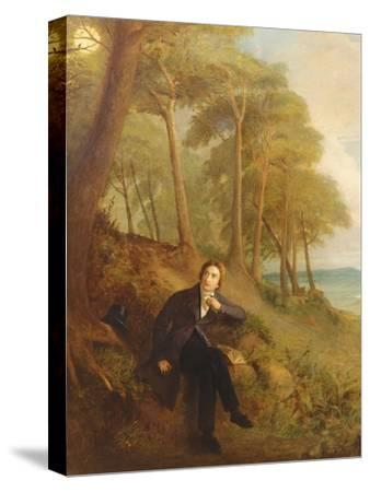 Keats Listening to the Nightingale on Hampstead Heath, 1845 (See also 145175)-Joseph Severn-Stretched Canvas Print