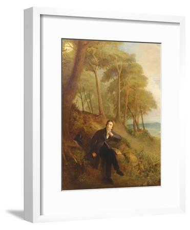 Keats Listening to the Nightingale on Hampstead Heath, 1845 (See also 145175)-Joseph Severn-Framed Giclee Print