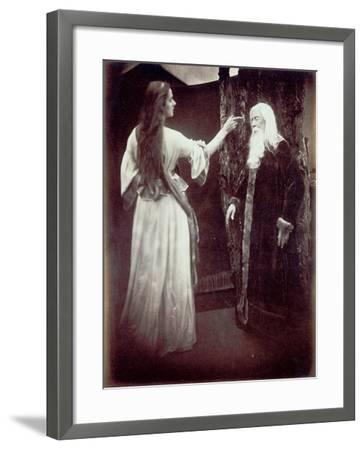 Vivien and Merlin, 1874-Julia Margaret Cameron-Framed Giclee Print