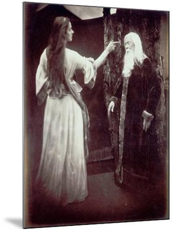 Vivien and Merlin, 1874-Julia Margaret Cameron-Mounted Giclee Print