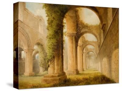 Kirkstall Abbey-Joseph Skelton-Stretched Canvas Print