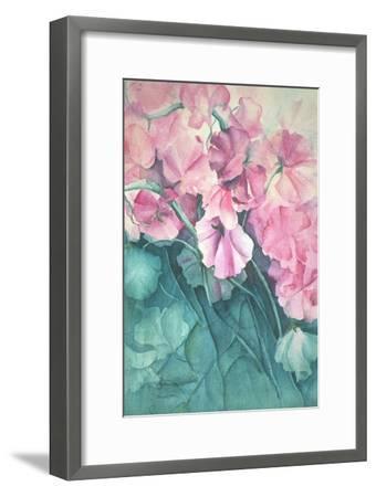 Sweet Peas, Pink Pride-Karen Armitage-Framed Giclee Print