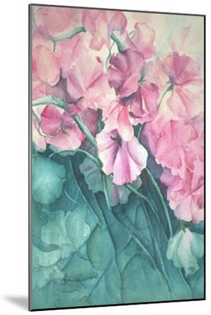 Sweet Peas, Pink Pride-Karen Armitage-Mounted Giclee Print