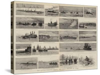 Ten Little Torpedo Boats and What Became of Them-Joseph Nash-Stretched Canvas Print