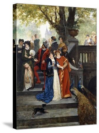In the Park; Dans Le Parc-Jules Arsene Garnier-Stretched Canvas Print