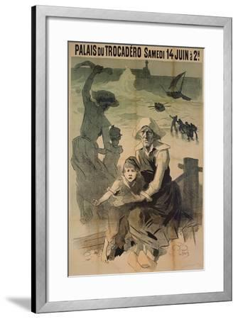 Poster Advertising a Charity Gala in Aid of the Families of Shipwrecked Sailors at the Palais Du Tr-Jules Ch?ret-Framed Giclee Print