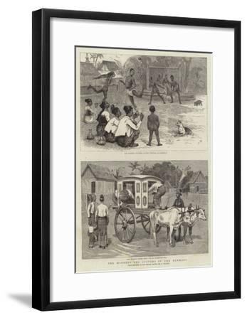 The Manners and Customs of the Burmans-Joseph Nash-Framed Giclee Print