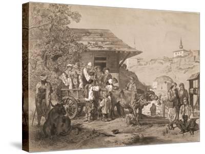 Bulgarians Near Varna, Printed by Lemercier, Paris-Jules Joseph Augustin Laurens-Stretched Canvas Print