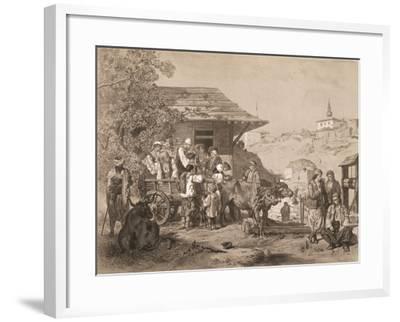 Bulgarians Near Varna, Printed by Lemercier, Paris-Jules Joseph Augustin Laurens-Framed Giclee Print
