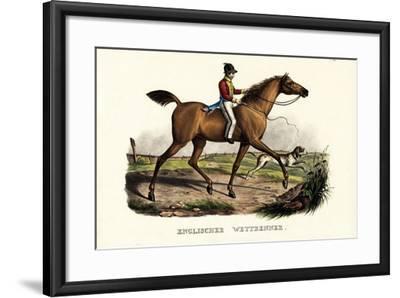 English Racer Horse, 1824-Karl Joseph Brodtmann-Framed Giclee Print