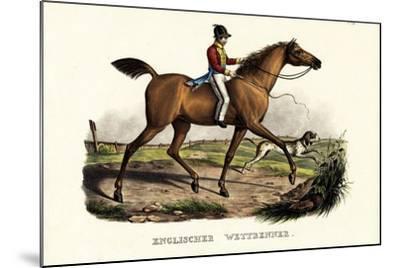 English Racer Horse, 1824-Karl Joseph Brodtmann-Mounted Giclee Print