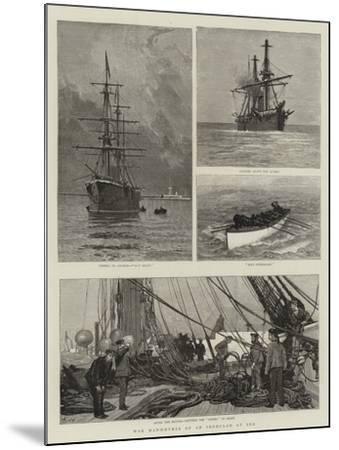 War Manoeuvres of an Ironclad at Sea-Joseph Nash-Mounted Giclee Print