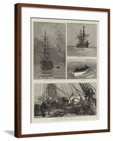 War Manoeuvres of an Ironclad at Sea-Joseph Nash-Framed Giclee Print