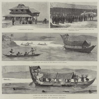 Campaigning in Upper Burma-Joseph Nash-Framed Giclee Print