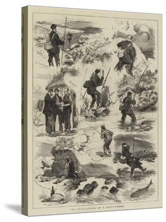 The Tribulations of a Trout-Fisher-Joseph Nash-Stretched Canvas Print