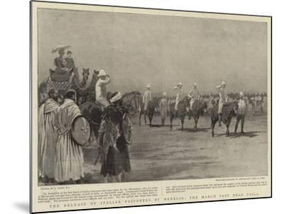 The Release of Italian Prisoners by Menelik, the March Past Near Zaila-Joseph Nash-Mounted Giclee Print