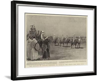The Release of Italian Prisoners by Menelik, the March Past Near Zaila-Joseph Nash-Framed Giclee Print