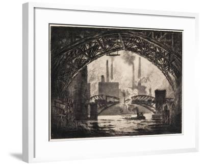 Under the Bridges, Chicago, 1910-Joseph Pennell-Framed Giclee Print