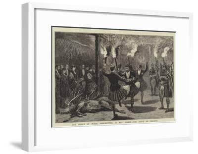 The Prince of Wales Deer-Hunting in Mar Forest, the Dance of Triumph-Joseph Nash-Framed Giclee Print