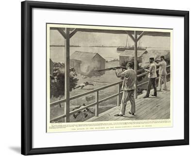 The Attack of the Brassmen on the Niger Company's Station at Akassa-Joseph Nash-Framed Giclee Print