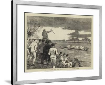 Preparing for the Boat Race, Coaching the Oxford Crew-Joseph Nash-Framed Giclee Print