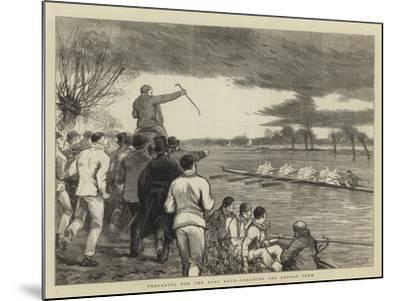Preparing for the Boat Race, Coaching the Oxford Crew-Joseph Nash-Mounted Giclee Print