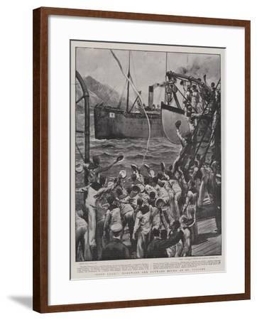 Good Luck!, Homeward and Outward Bound at St Vincent-Joseph Nash-Framed Giclee Print