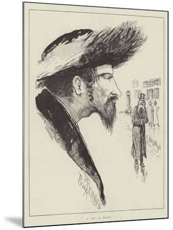 The Jew at Home-Joseph Pennell-Mounted Giclee Print