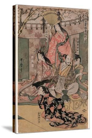 Taiko Gosai Rakuto Yukan No Zu-Kitagawa Utamaro-Stretched Canvas Print