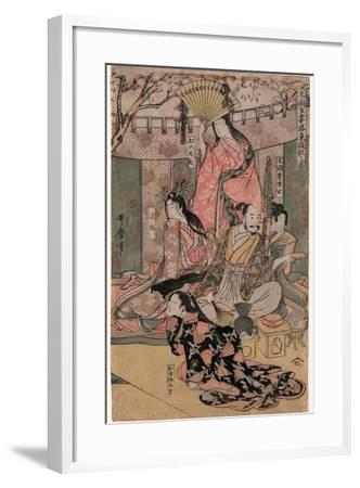 Taiko Gosai Rakuto Yukan No Zu-Kitagawa Utamaro-Framed Giclee Print