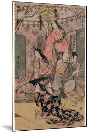 Taiko Gosai Rakuto Yukan No Zu-Kitagawa Utamaro-Mounted Giclee Print
