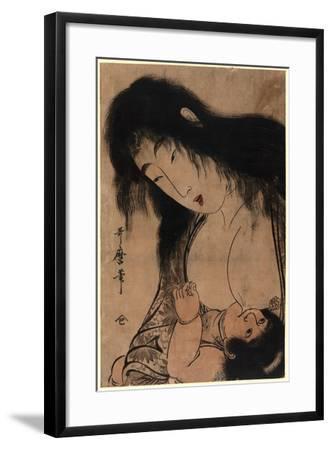 Yamauba No Chichi O Suh Kintaro-Kitagawa Utamaro-Framed Giclee Print