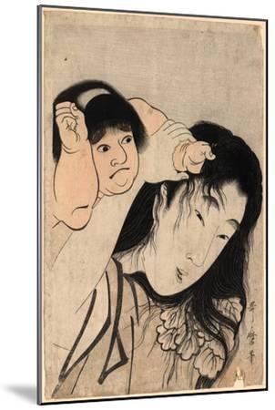 Yamauba No Kami O Tsukamu Kintaro-Kitagawa Utamaro-Mounted Giclee Print