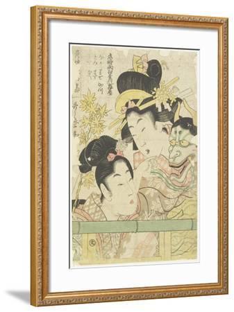 Two Courtesans in the Roles of Koi-Shigure Momiji No Rodai, 1781-1806-Kitagawa Utamaro-Framed Giclee Print