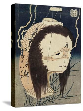 The Lantern Ghost, Iwa, C. 1831-1832-Katsushika Hokusai-Stretched Canvas Print