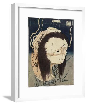 The Lantern Ghost, Iwa, C. 1831-1832-Katsushika Hokusai-Framed Giclee Print
