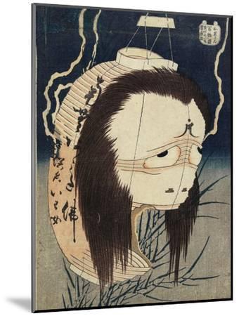 The Lantern Ghost, Iwa, C. 1831-1832-Katsushika Hokusai-Mounted Giclee Print