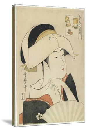 Portrait of Tomimoto Toyohina, 1795-1796-Kitagawa Utamaro-Stretched Canvas Print