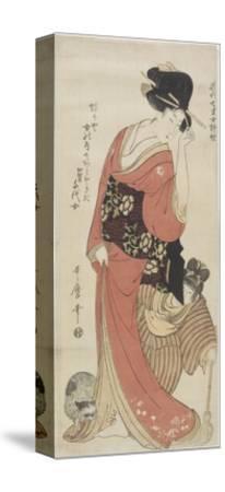 Chiyo from Kaga Province, C. 1801-1804-Kitagawa Utamaro-Stretched Canvas Print