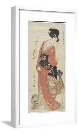 Chiyo from Kaga Province, C. 1801-1804-Kitagawa Utamaro-Framed Giclee Print