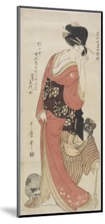 Chiyo from Kaga Province, C. 1801-1804-Kitagawa Utamaro-Mounted Giclee Print