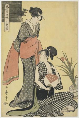 Picture of the Lower Class, 1794-1795-Kitagawa Utamaro-Framed Giclee Print