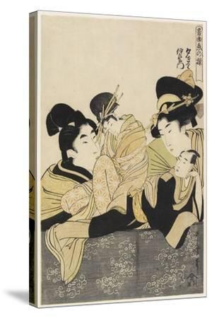 Yugiri and Izaemon, C. 1801-Kitagawa Utamaro-Stretched Canvas Print