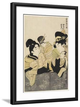 Yugiri and Izaemon, C. 1801-Kitagawa Utamaro-Framed Giclee Print